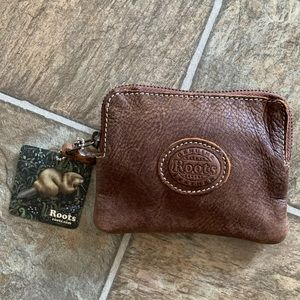 Roots leather coin purse
